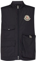 Moncler 2 1952 - Patch-pocket Quilted-down Gilet - Mens - Dark Navy
