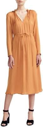 Maje Long-Sleeve Midi Dress