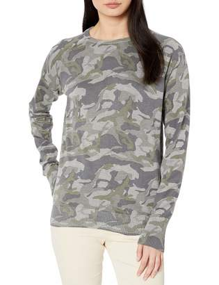 Monrow Women's Grey Camo Raglan Sweater Large