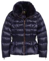 Ted Baker Puffer Jacket with Faux Fur Collar