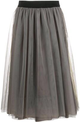 Peserico Tulle Panel Skirt
