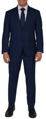 Kenneth Cole Reaction Modern Blue Woven Two Button Notch Lapel Slim Fit Suit