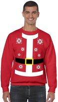 Allntrends Men's Crewneck Sweatshirt Santa Claus Suit Christmas Sweater (2XL, )