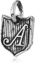 "Pyrrha Letter ""A"" Sterling Petite Initial Shield Charm"