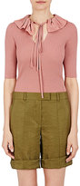 Nina Ricci Women's Wool Ruffled-Collar Sweater-PINK