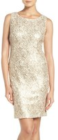 Chetta B Women's Sequin Lace Sheath Dress
