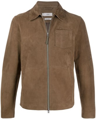 Closed Point-Collar Patch Pocket Jacket