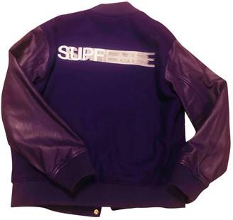 Supreme Purple Wool Jackets