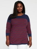 Old Navy Relaxed Plus-Size Textured Bateau Sweater