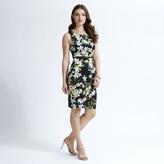 Apricot Black Pretty Floral Print Midi Dress
