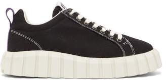 Eytys Odessa Corrugated Rubber-sole Canvas Trainers - Womens - Black