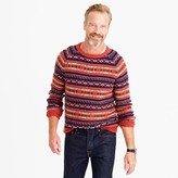 J.Crew Lambswool Fair Isle sweater in heather rust