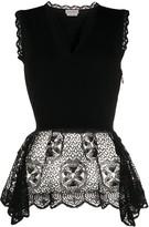 Alexander McQueen lace trim blouse