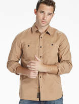 Lucky Brand Saturday Stretch Military Oxford Shirt