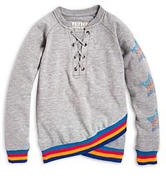 Butter Shoes Girls' Stars & Stripes Cross Front Sweatshirt - Big Kid