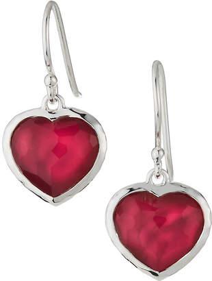 Ippolita Wonderland Small Heart Wire Earrings in Raspberry