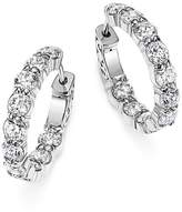 Bloomingdale's Diamond Inside Out Hoop Earrings in 14K White Gold, 4.0 ct. t.w. - 100% Exclusive