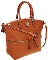 Dooney & Bourke As Is Pebbled Leather Satchel with Front Zippers