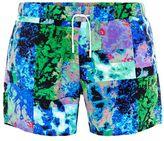 Topman Multi Texture Print Swim Shorts