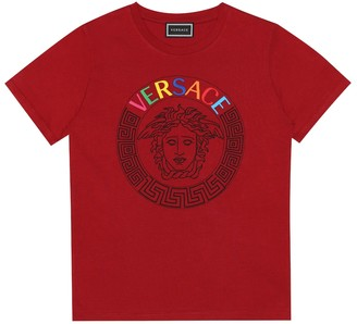 Versace Kids Logo cotton T-shirt