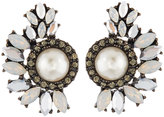 Lydell NYC Crystal & Simulated Pearl Cluster Stud Earrings, Multi