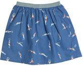 Nice Things Swimmers Printed Cotton Poplin Skirt