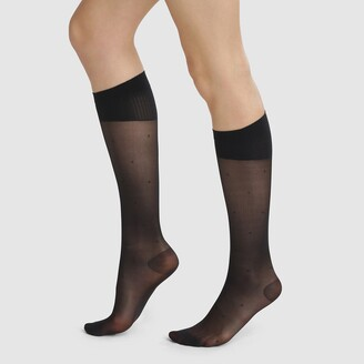 Dim Perfect Contention 25 Denier Sheer Dotted Medical Compression Knee-Highs