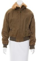 Boy By Band Of Outsiders Fur-Trimmed Bomber Jacket