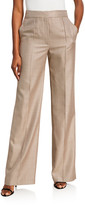 ADAM by Adam Lippes Houndstooth Wide-Leg Pants