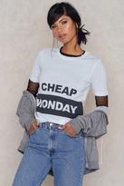 Cheap Monday Break Block Logo Tee