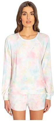 PJ Salvage Rainbow Lounge Tie-Dye Sweatshirt (Multi) Women's Clothing