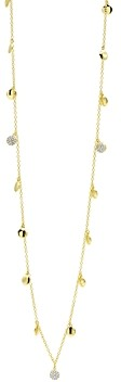 Freida Rothman Radiance Pave Charm Long Necklace in 14K Gold-Plated & Rhodium-Plated Sterling Silver, 36