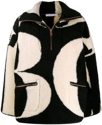 See by Chloe Letter Print Fleece Jacket