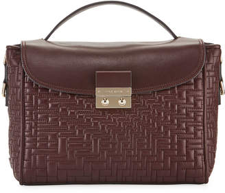 Cole Haan Locked Quilted Leather Flap-Top Satchel Bag