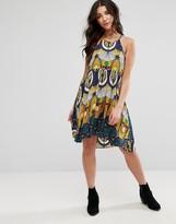 Brave Soul Sleeveless Printed Shift Dress