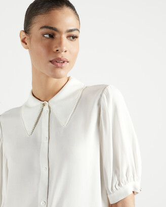 Ted Baker GUILIAA Pearl-trimmed shirt