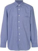 Brioni checked shirt