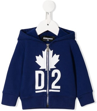 DSQUARED2 logo hooded sweatshirt