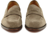 Reiss Reiss Cooper - Suede Penny Loafers In Brown