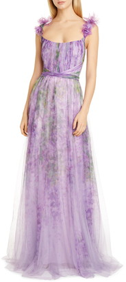 Marchesa A-Line Tulle Gown