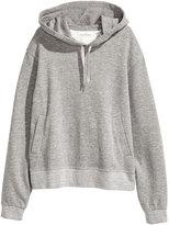 H&M Melange Hooded Sweatshirt - Gray melange - Ladies