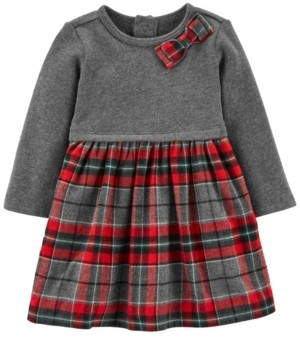 Carter's Baby Girl Holiday Plaid Bow Dress
