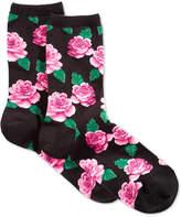 Hot Sox Women's Rose Print Socks