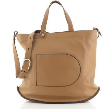 Delvaux Pin Cabas Tote Leather