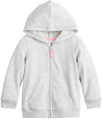 Baby Girl Jumping Beans Solid French Terry Hoodie