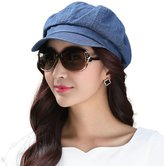 Siggi Womens Visor Beret Newsboy Hat Cap for Ladies 100% Cotton Spring Summer Navy