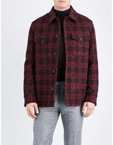Brioni Checked Wool And Cashmere-blend Jacket
