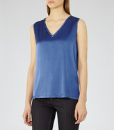 Reiss Fi Silk-Front Tank Top