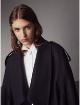 Burberry Wool Cashmere Blend Military Cape