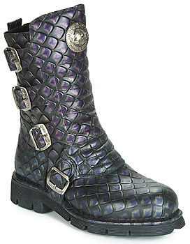 New Rock M.373X-S22 DRAGON women's High Boots in Black